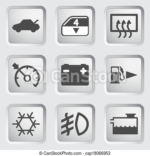 Car Dashboard Icons Icons For The Control Panel Of The Car - Car image sign of dashboardcar dashboard icons stock images royaltyfree imagesvectors