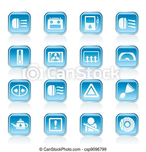 Car Dashboard Icons Car Dashboard Realistic Vector Icons Eps - Car image sign of dashboardcar dashboard icons stock images royaltyfree imagesvectors