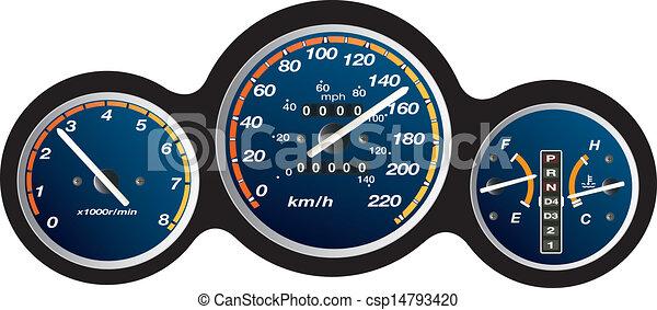 car dashboard  - csp14793420