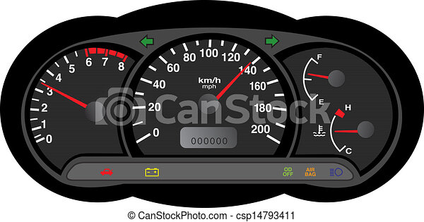 car dashboard - csp14793411