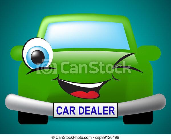 Car Dealer Shows Business Concern And Automotive - csp39126499