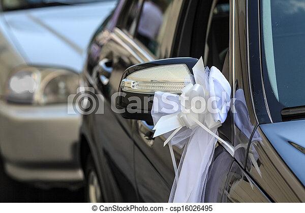 Car decoration for a wedding - csp16026495