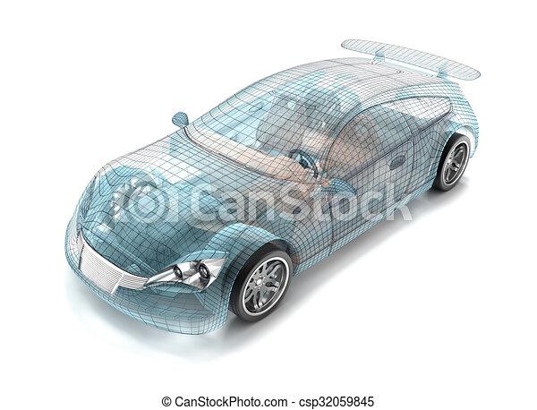 Car design wire model my own design csp32059845