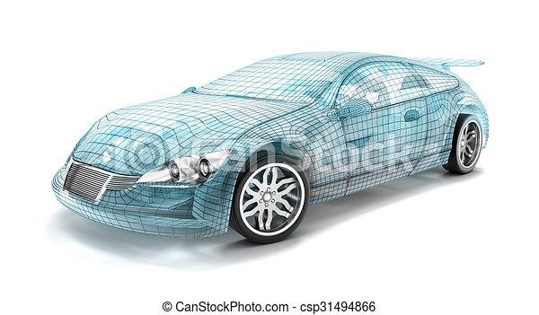 Car design wire model my own design csp31494866