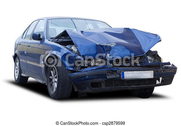 car, destruído - csp2879599