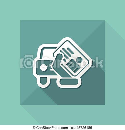 Car document icon - csp45726186