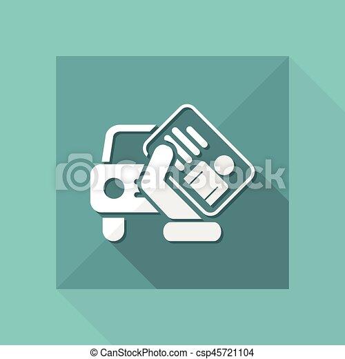 Car document icon - csp45721104