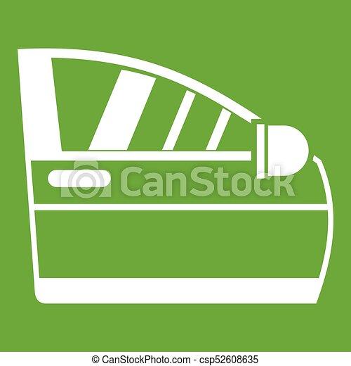 Car door icon green - csp52608635