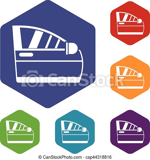 Car door icons set - csp44318816