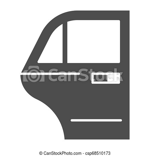 Car door solid icon. Car element vector illustration isolated on white. Auto door glyph style design, designed for web and app. Eps 10. - csp68510173