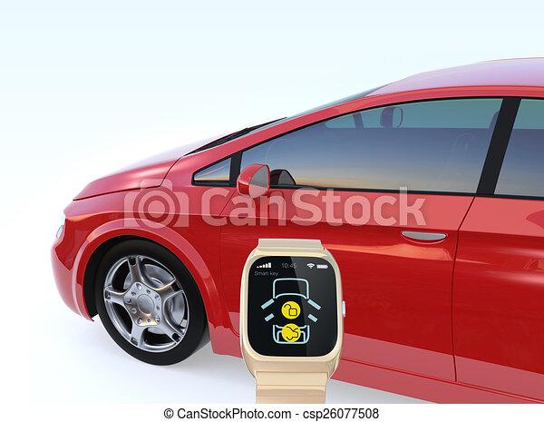 Car door unlock by smart watch