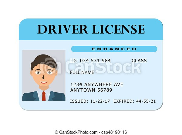 Car driver license card. - csp48190116