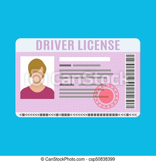 Car driver license identification card with photo. - csp50838399