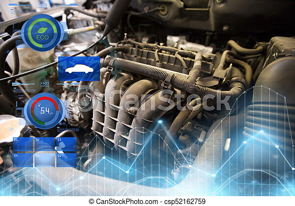 car engine close up - csp52162759