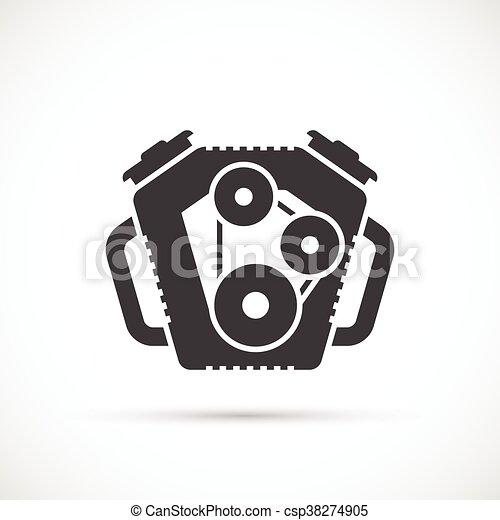 Car engine icon - csp38274905
