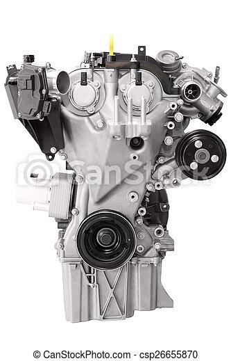 car engine isolated on white - csp26655870