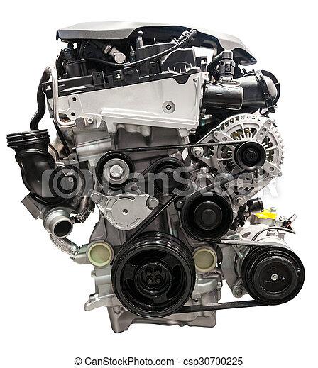 Car engine isolated on white - csp30700225