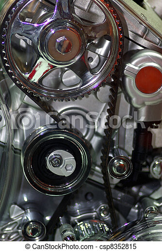 Car enginet - Close up image of an internal combustion engine.  - csp8352815