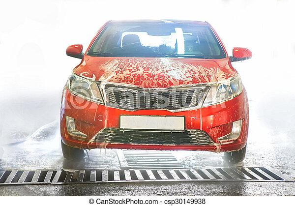 car, espuma, coberto - csp30149938