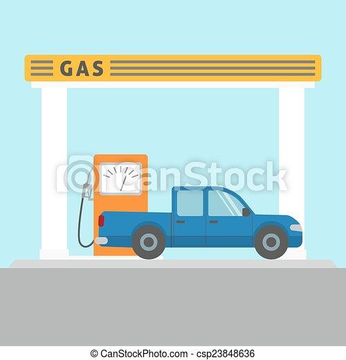 car, estação, gás - csp23848636