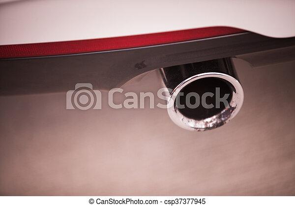 Car exhaust detail - csp37377945