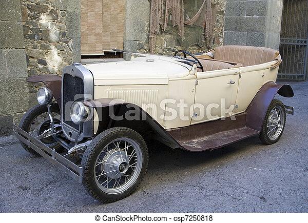 car, fashioned velho - csp7250818