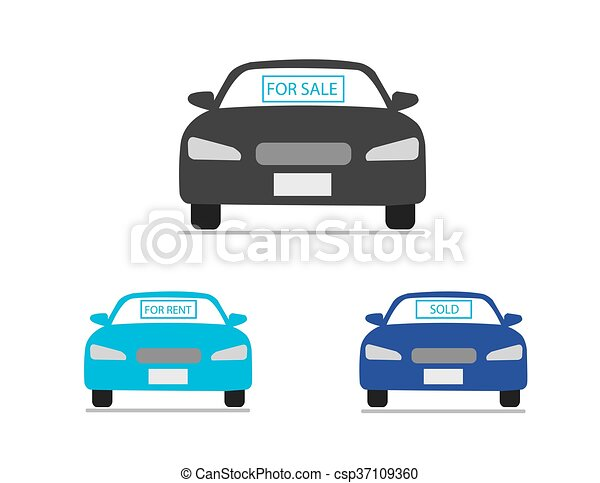 Car for sale icons. Car for sale, for rent, sold icons... clip art ...