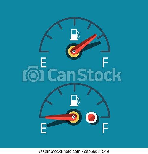 Car Fuel Icon. Vector Dashboard Symbols Set. - csp66831549