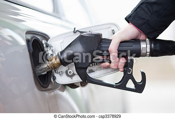 Car fueling at the gas station - csp3378929