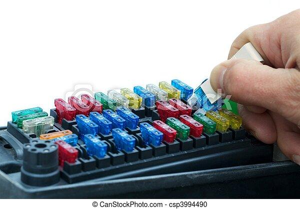 Car fuse exchange - csp3994490