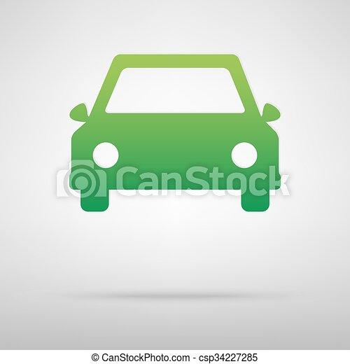 Car green icon - csp34227285