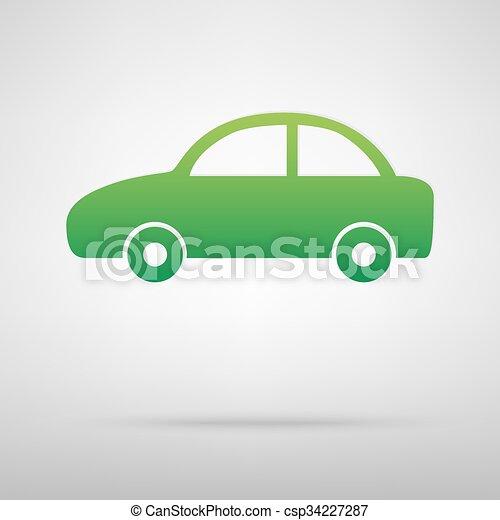 Car green icon - csp34227287