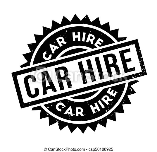 Car Hire Rubber Stamp Grunge Design With Dust Scratches Effects