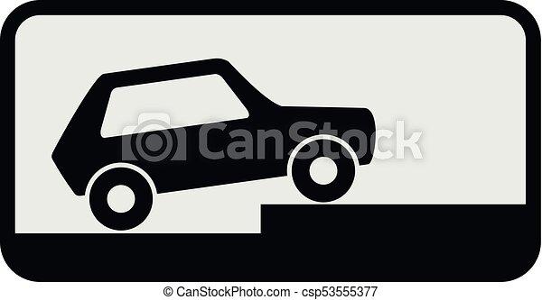 Car icon, flat style. - csp53555377
