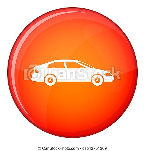 Car icon, flat style - csp43751369