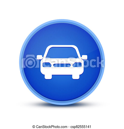 Car icon isolated on glassy blue round button abstract - csp82555141