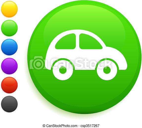 car icon on round internet button - csp3517267