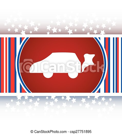Car icon on the round web button vector - csp27751895