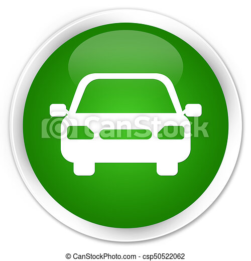 Car icon premium green round button - csp50522062