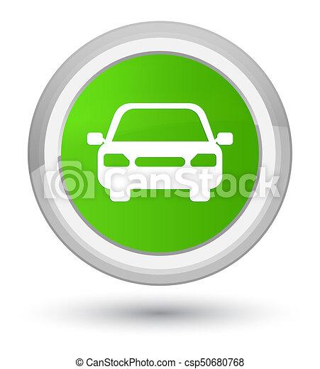 Car icon prime soft green round button - csp50680768