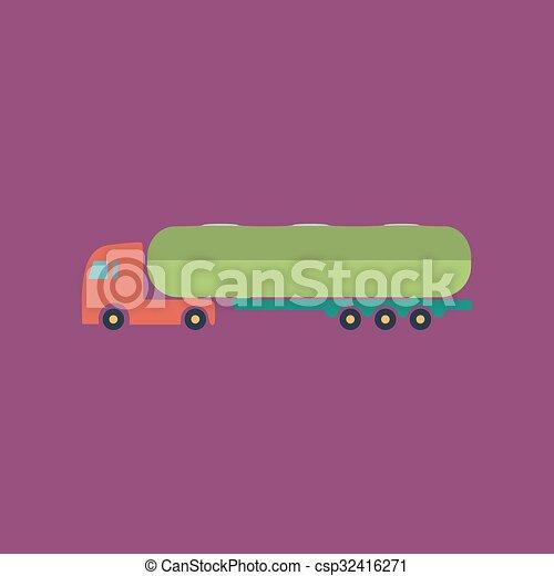 car, icon., tanque, reboque - csp32416271