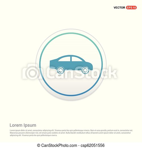 car Icon - white circle button - csp62051556