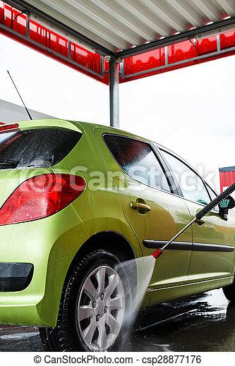 Car in a car wash - csp28877176