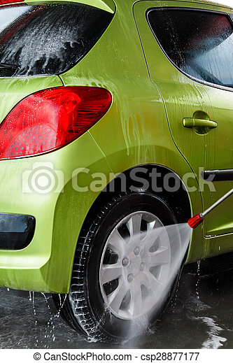 Car in a car wash - csp28877177