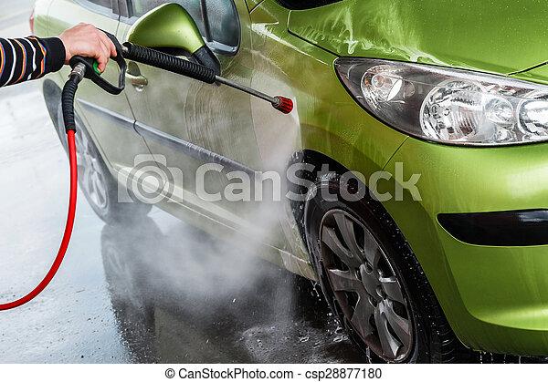 Car in a car wash - csp28877180