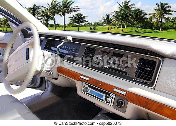 car indoor retro vintage in Caribbean golf course - csp5820073