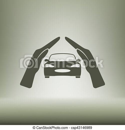 Car Insurance Icon On White Background