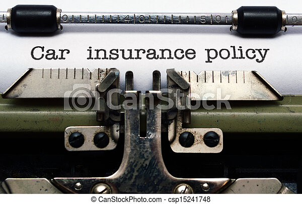 Car insurance policy - csp15241748