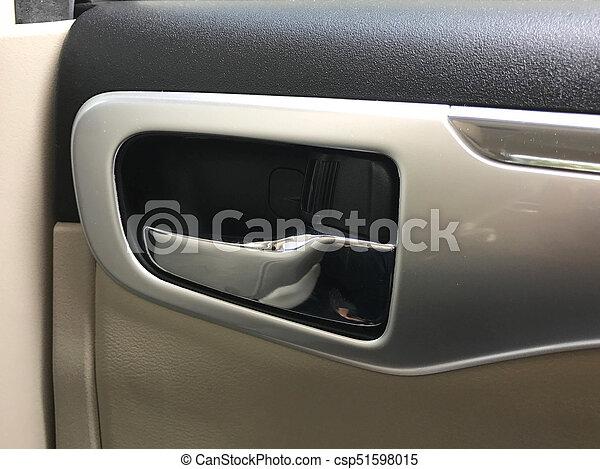 Car Interior Door Handle Of Modern Car