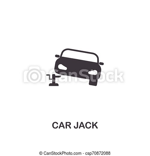 Car Jack creative icon. Simple element illustration. Car Jack concept symbol design from car parts collection. Can be used for web, mobile, web design, apps, software, print. - csp70872088